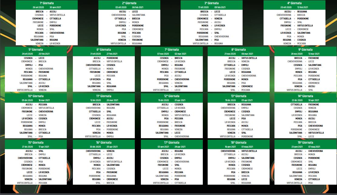 Calcio | Calendario | Serie B | Chievo Verona