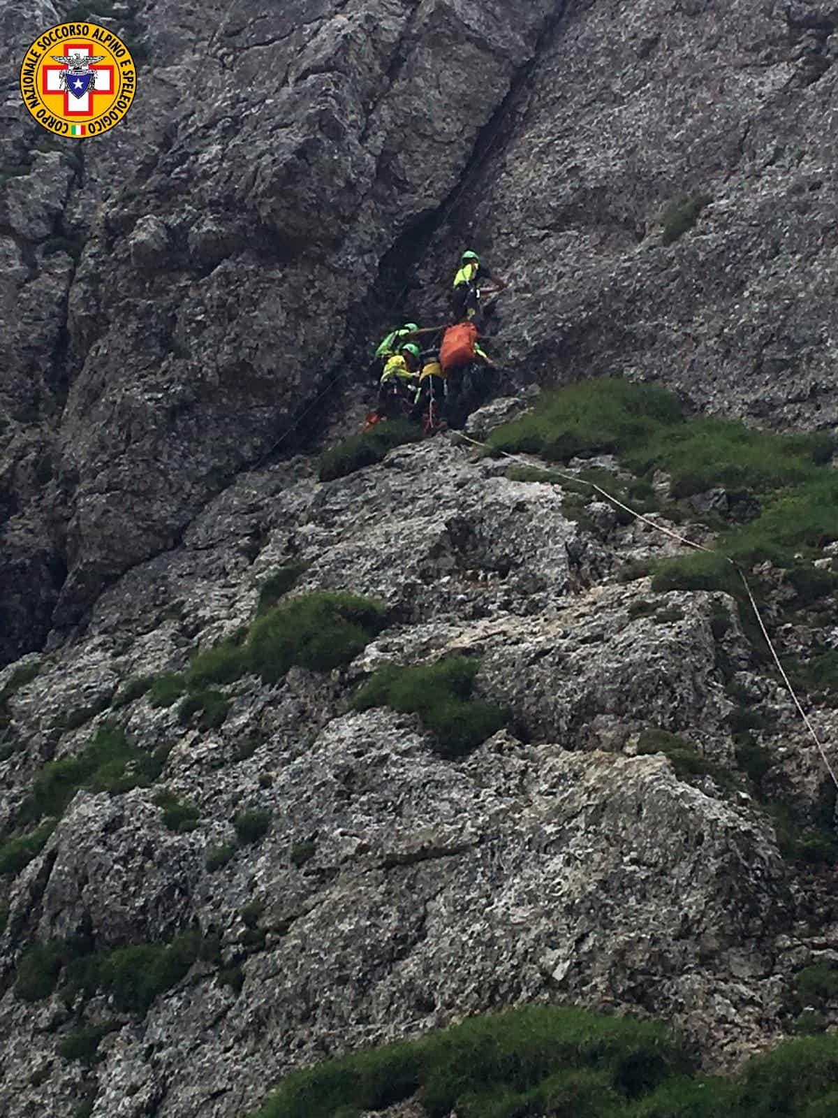Alpinista soccorso nel Vicentino