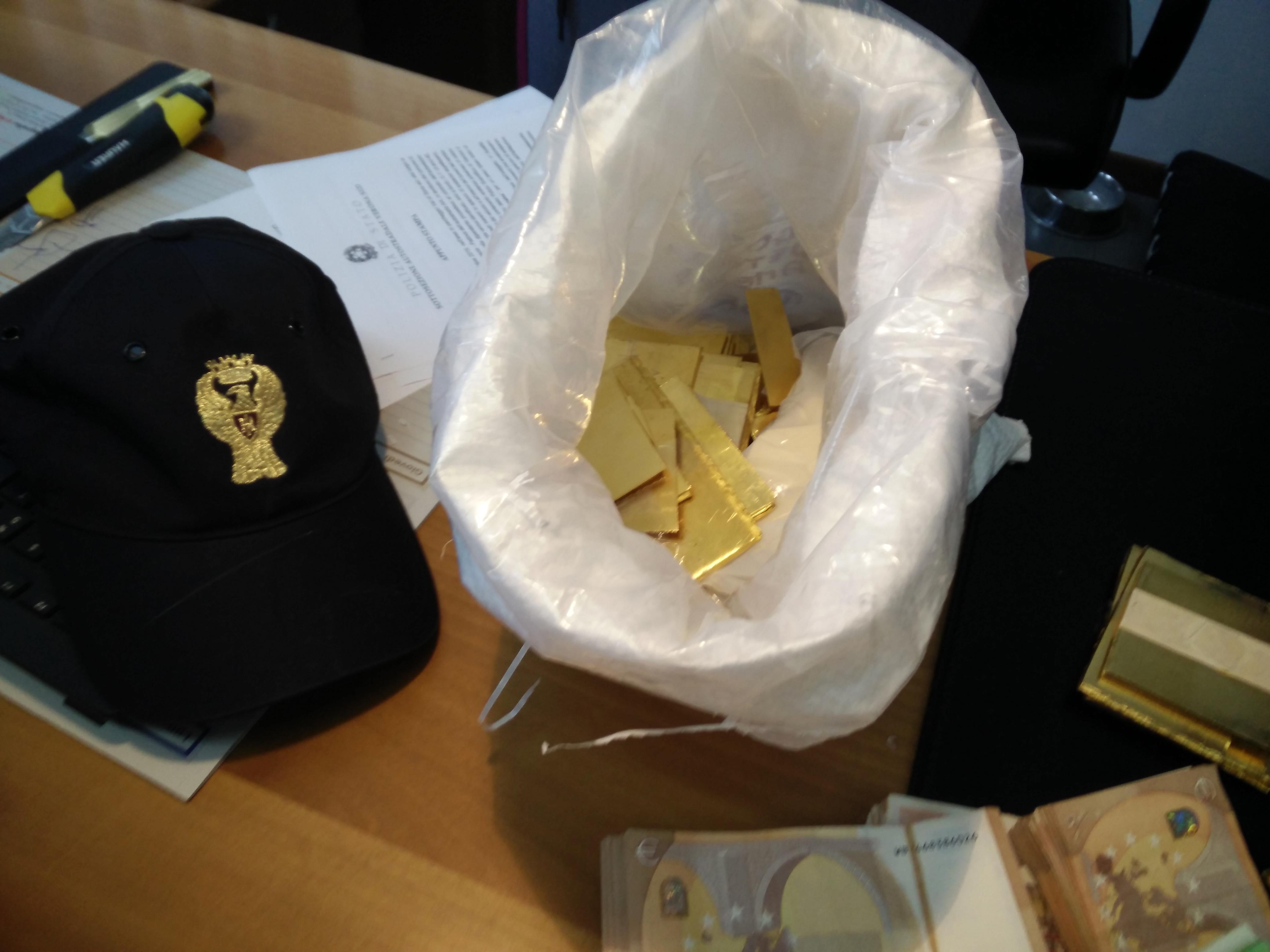 oro sequestrato polizia stradale vr-2