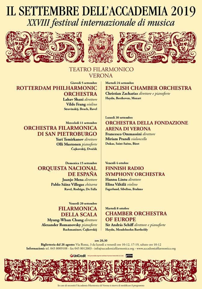 Orchestra Radio Zeta Calendario.Il Settembre Dell Accademia Di Verona