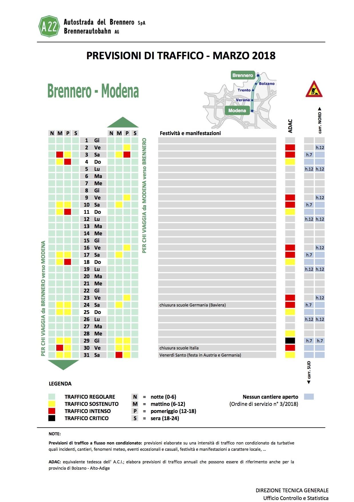 Calendario Traffico Autostrade.Esodo Pasquale Sulla A22 I Consigli E Le Previsioni Della
