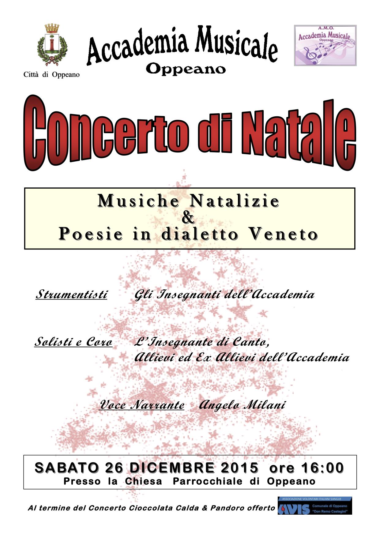 Poesie Di Natale Venete.Concerto Di Natale Sabato 26 Dicembre Alle Ore 16 In Chiesa
