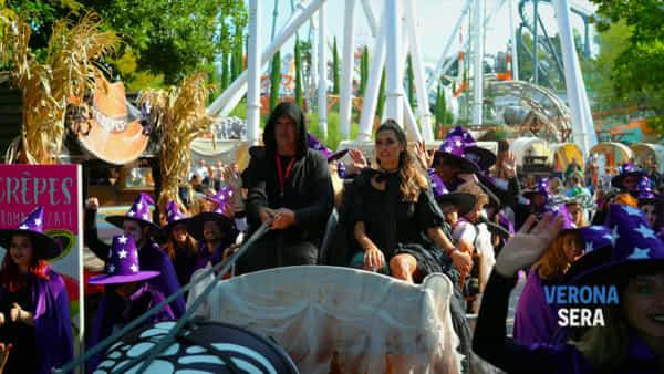 Una bellissima Melissa Satta ha inaugurato il Gardaland Magic Halloween