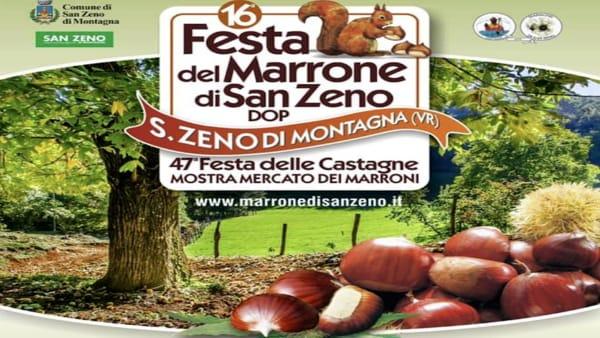 A San Zeno di Montagna la grande Festa delle Castagne e mostra-mercato del marrone DOP