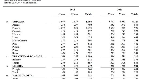 uif dati 2017 2017 terrorismo finanziamento-2