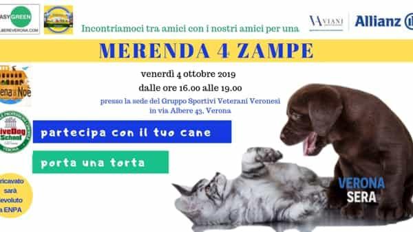 Merenda 4 zampe in via Albere a Verona: un evento benefico per Enpa