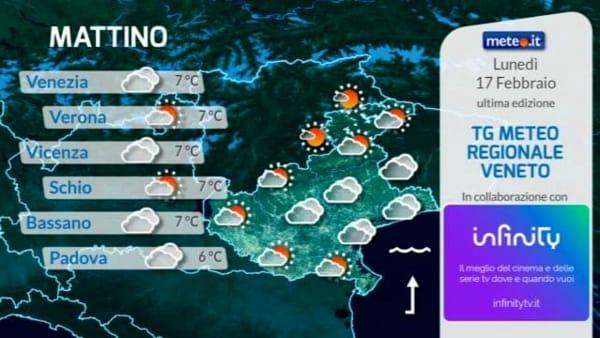 Le previsioni meteo per lunedì 17 febbraio 2020