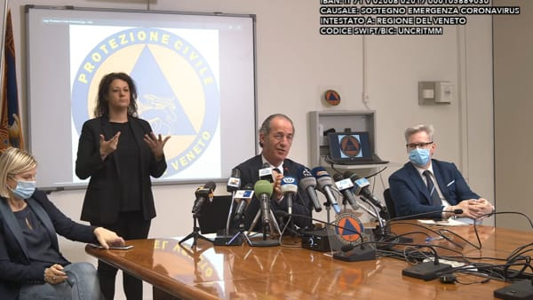 Video contro assembramenti, Zaia: «Happy hour infelice se finisce in ospedale»