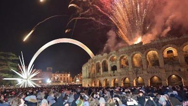 Grande festa di Capodanno in piazza Bra a Verona con i finalisti di X Factor