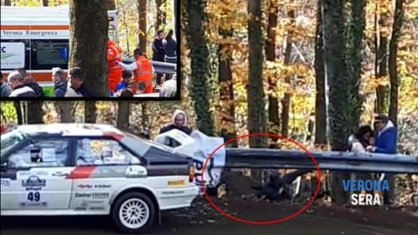 Revival Rally Club Valpantena: auto sbatte contro guardrail, due feriti