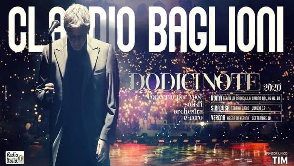 """Le """"Dodici note"""" di Claudio Baglioni a Verona per un imperdibile concerto in Arena"""