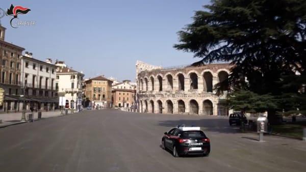 Il video dei carabinieri di Verona che commuove l'Italia intera durante l'emergenza sanitaria