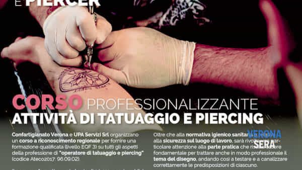 A Verona un corso professionalizzante per attività di tatuaggio e piercing