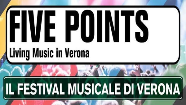 Dal 2 al 30 settembre arriva il Festival musicale itinerante Five Points