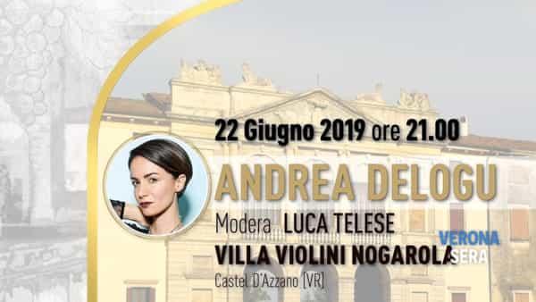"""Andrea Delogu ospite a Villa Violini Nogarola per """"Sorsi d'autore"""""""