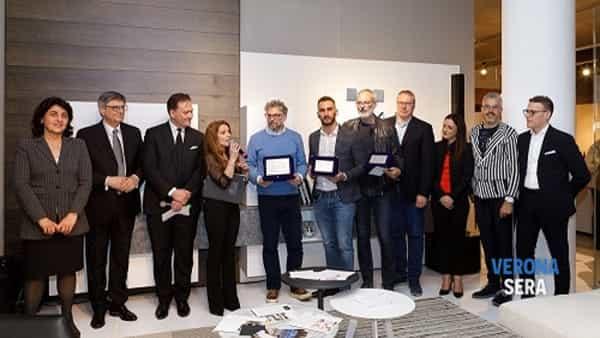 Manuel Cavallin di Treviso vincitore del 6° Concorso Design e Creatività, secondo classificato Zuliani Nicola (Palazzo di Sona Verona), 3° Paolo Morettin (San Giorgio di Nogaro UD) -2