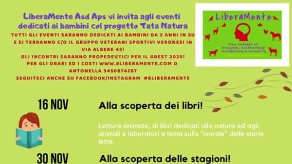"""""""Tata natura days!"""": laboratori creativi per i bambini con LiberaMente"""
