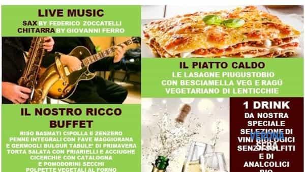 """""""Aperivivo"""" e musica live per il compleanno con Piugustobio"""
