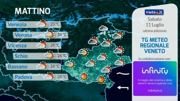 Le previsioni meteo per sabato 11 luglio 2020