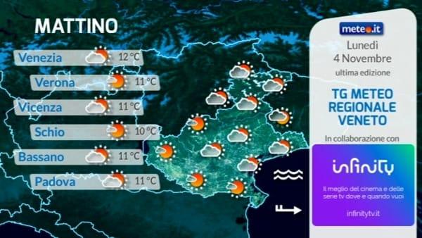 Le previsioni meteo per lunedì 4 novembre 2019