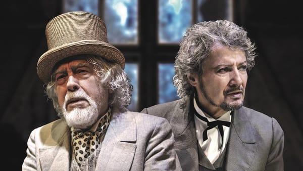 """Glauco Mauri e Roberto Sturnosul palco del Salieri per lo spettacolo""""I fratelli Karamazov"""""""