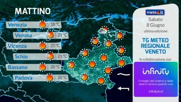 Le previsioni meteo per sabato 8 giugno 2019