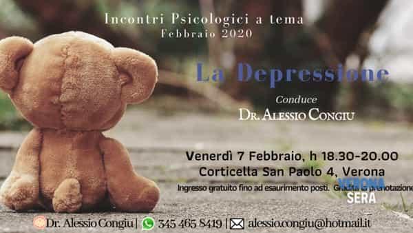 Incontro psicologico dedicato al tema della depressione