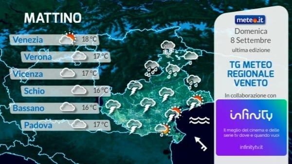 Meteo a Verona e in Veneto, le previsioni per domenica 8 settembre 2019