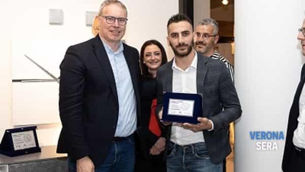 Manuel Cavallin di Treviso vincitore del 6° Concorso Design e Creatività, secondo classificato Zuliani Nicola (Palazzo di Sona Verona), 3° Paolo Morettin (San Giorgio di Nogaro UD) -3