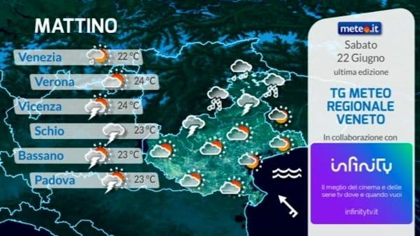 Meteo, le previsioni del tempo di sabato 22 giugno per Verona e il Veneto