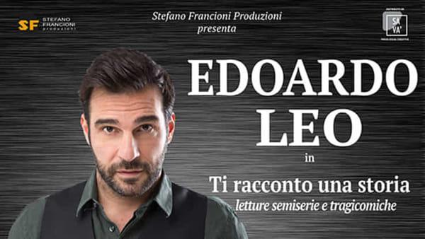 """Edoardo Leo protagonista al Teatro Capitan Bovo in """"Ti racconto una storia"""""""