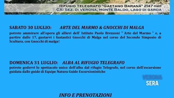 Weekend al Rifugio Telegrafo sul Monte Baldo dal 30 al 31 luglio