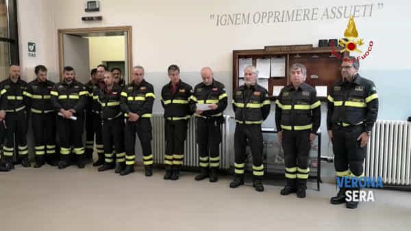 Vigili del fuoco morti ad Alessandria: il cordoglio dei colleghi veronesi