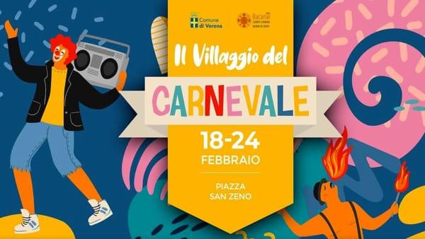 """In piazza San Zeno torna a Verona il fantastico """"Villaggio di carnevale"""""""