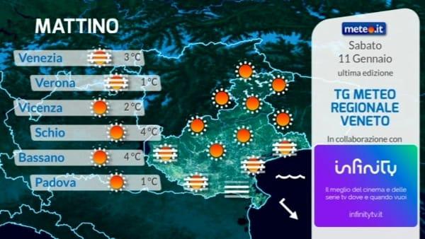 Le previsioni meteo per sabato 11 gennaio 2020
