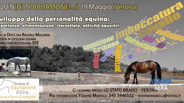 Seminario di etologia a Verona: la personalità del cavallo