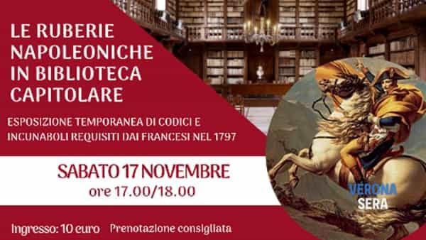 """""""Le ruberie napoleoniche in Biblioteca Capitolare"""", un'esposizione temporanea"""