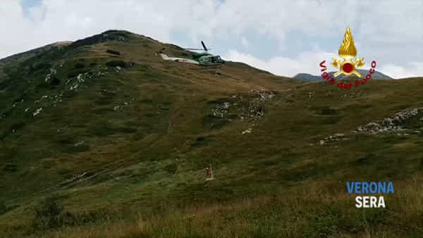 Intrappolate in una grotta in Lessinia, le mucche vengono salvate dai pompieri