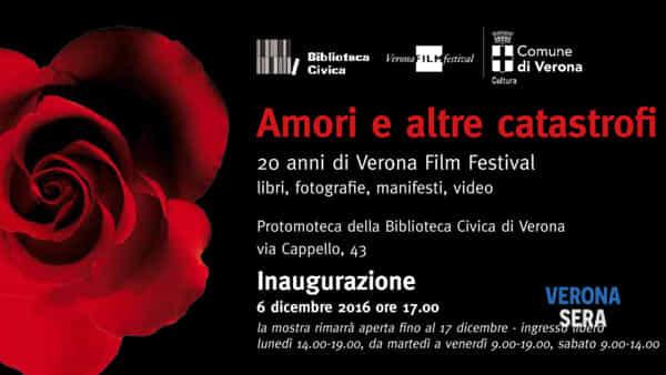 Amori e altre catastrofi: 20 anni di Verona Film Festival, la mostra in Civica