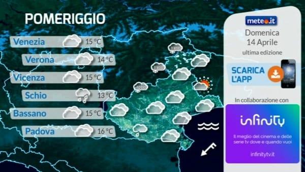 Meteo in Veneto e a Verona, le previsioni per domenica 14 aprile