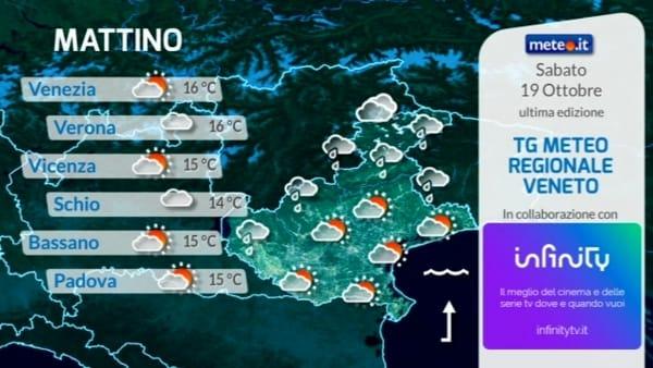 Le previsioni meteo per sabato 19 ottobre 2019