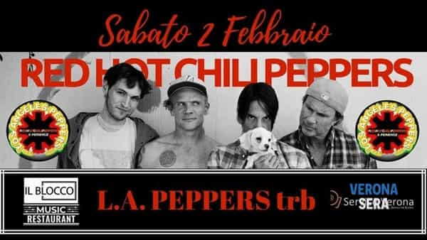 L.A. Peppers, la tribute band dei Red Hot Chili Peppers live al Blocco music hall