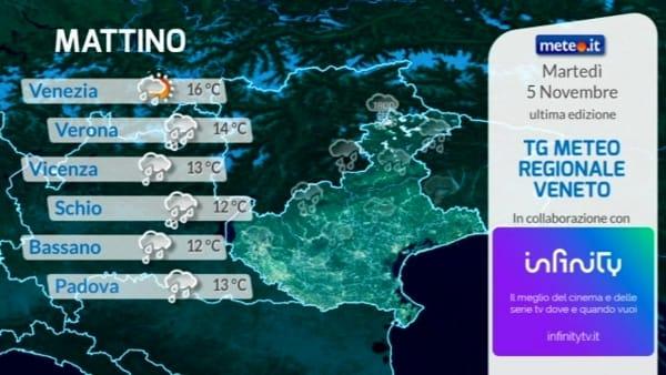 Le previsioni meteo per martedì 5 novembre 2019