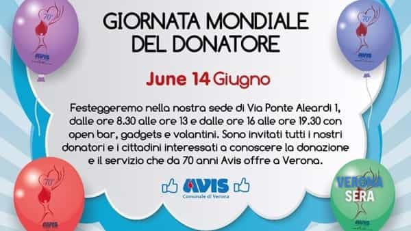 World Blood Donor Day: 14^ giornata mondiale del donatore di sangue