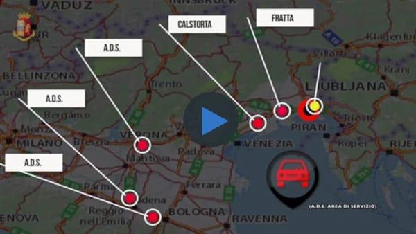 Banda di ladri arrestata dalla Polstrada di Udine, colpi anche nel Veronese