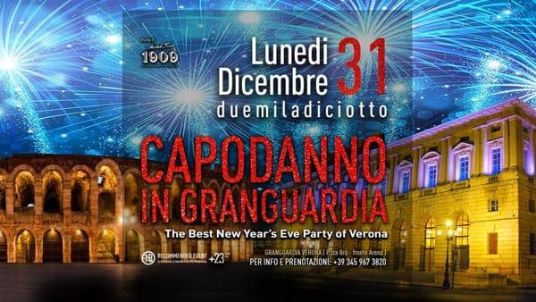 Capodanno in Gran Guardia 2018/19: grande festa nel cuore di Verona