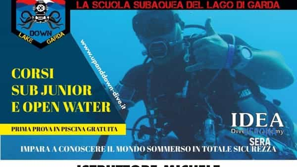 """Corsi subacqueialla """"Up and down diving school"""" dal"""