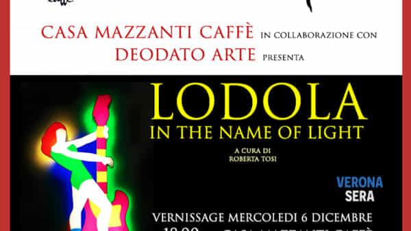 """Presso Casa Mazzanti Art Caffè l'evento artistico """"Lodola: in the name of light"""""""