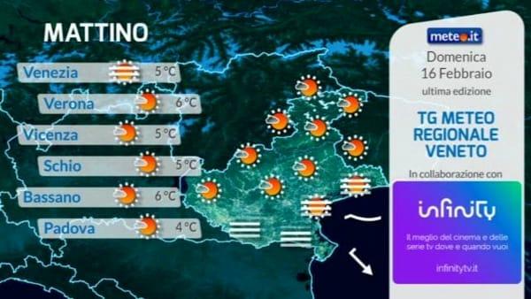 Le previsioni meteo per domenica 16 febbraio 2020