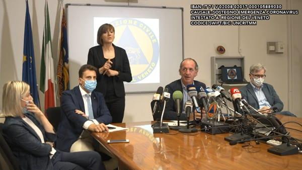 Zaia: «In Veneto ci sono 22 focolai: 13 privati e 9 in case di riposo»